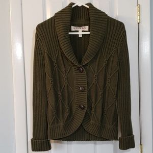 GH Bass Heritage Cable Knit Cardigan Sweater